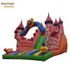 Inflatable colorful castle style double lane slide for sale
