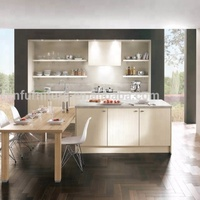 High End Quality Modern Australia Standard PVC kitchen cabinet design for small kitchens