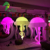 White Large Decoration Inflatable Molti-color Jellyfish LED Model Balloon
