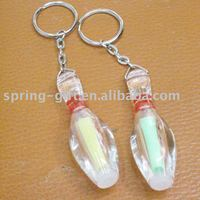 promotion bowling ball pin keychain