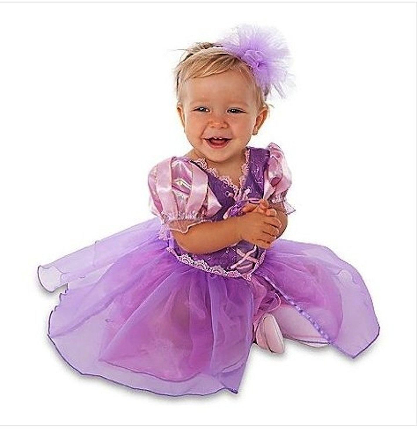 c8769bc31e9d Disney Store Tangled Princess Rapunzel Costume Size 3-6 Months: Dress  w/Headband