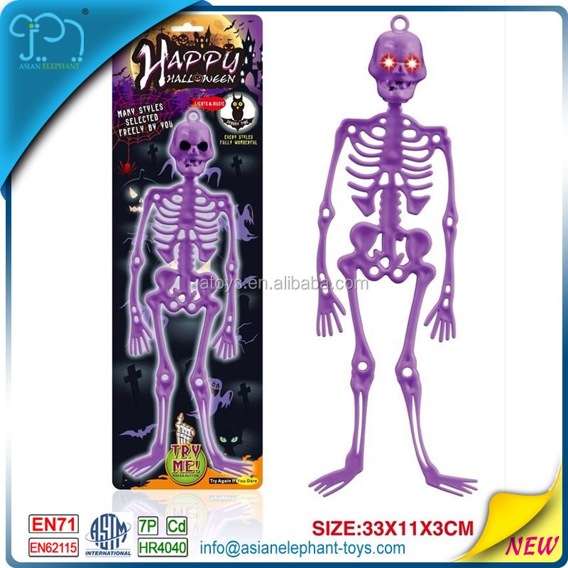 Plastic Skeleton Toy For Kids Halloween Skeleton With Light - Buy ...