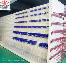 Supermarket accessories red wine basketball display shelf perforated shelf