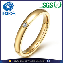 Fine Jewelry 3mm Cute Women's Ring Silver/Gold/Black/Rose Gold Plated Stainless Steel CZ Zircon Wedding Rings for Girls