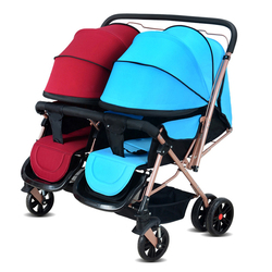 CS21A Lycra Cotton Easy To Fold Twins Baby Stroller Double Baby Stroller