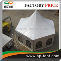 Diameter 10m Hexagon Party Dome Tent with full side covers protection from rain and wind