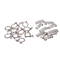 Outdoor Camping10 PCS lot O Shape Paracord Bracelet Buckle Survival Emergency Rope Buckles Adjustable Anchor Shackle