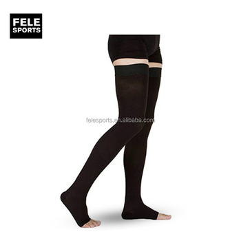 832aae77b Open Toe thigh High Firm Support 20-30 mmHg Gradient Compression Stockings  with Silicone Band