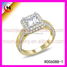 24K GOLD PLATED FASHION JEWELRY GOLD jewelry DESIGNS gold plated paved diamond ring for wedding