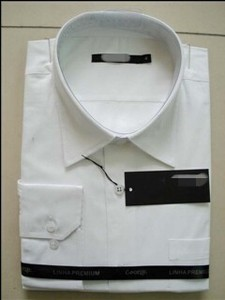 White Cotton Business Man Shirt Overstock