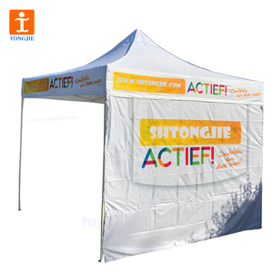 TJ Custom Folding Tent Canopy 10x10/ 10ft x 10ft Outdoor Pop up Portable Shade Instant Folding Canopy Carry Bag