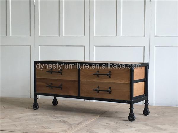 Woonkamer Houten Meubels : Industriële meubels woonkamer houten dressoir kast goederen met