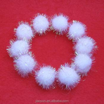 wholesale craft glitter pom poms buy glitter pom poms On bulk craft pom poms