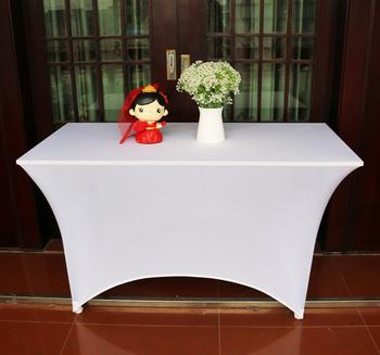Charmant Super Spandex Retangular Bar Tablecloth White Spandex Wedding Table Cover