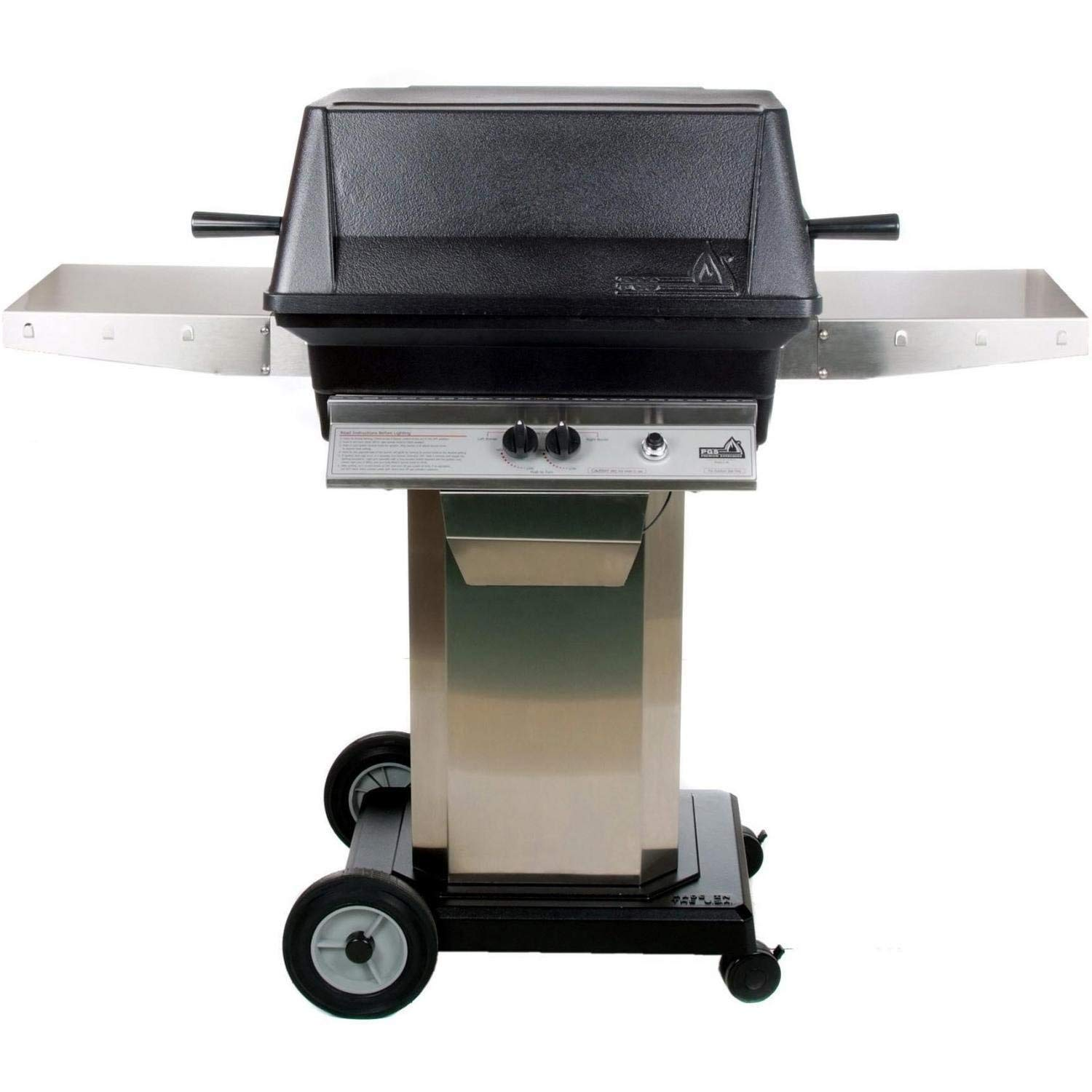 Pgs A40 Cast Aluminum Freestanding Natural Gas Grill On Stainless Steel Portable Pedestal Base