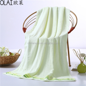 soft and water absorbability 100% cotton bamboo bath towel for adults and child