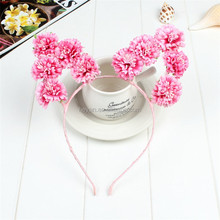 Fashion Handmade Flower headpiece, Flower Cat Ears head band