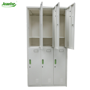 modular bedroom furniture Dormitory Steel Modular Wardrobe Closet with lockable drawers design
