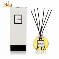100ml cute aroma glass diffuser, best transparent glass diffuser bottle with stick and box