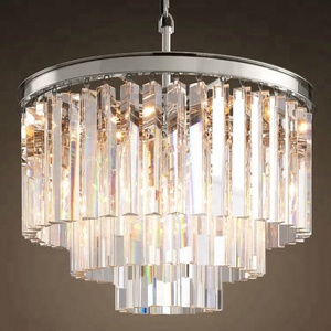 North American Modern Crystal Lighting Lobby Hanging Pendant Lamp Restaurant Led Lustre Cristal Hotel Chandelier CZ2526C/9
