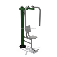 Hot Galvanized Steel Tube Single Seated Chest Exerciser Outdoor Fitness Equipment