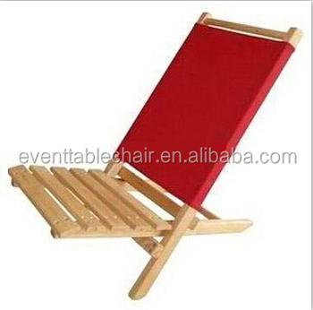 Superb Customization Foldable Slat Wooden Folding Beach Chair