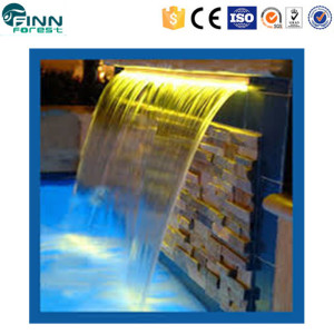 LED light swimming pool water feature landscape home decoration artificial waterfall