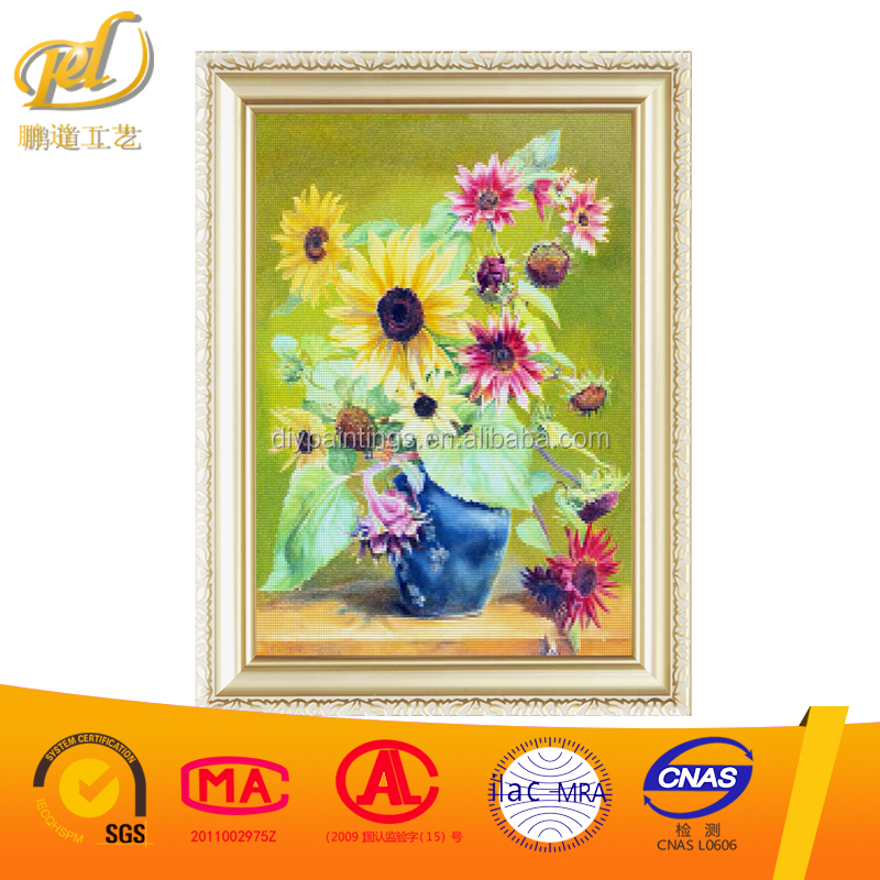 New DIY 5D Diamond Painting Sunflower Vase Square Embroidery Round Diamond Painting Cross Stitch kits Mosaic Home Decor y127