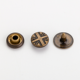 Custom logo decorative clothing rivets metal studs buttons for shirt