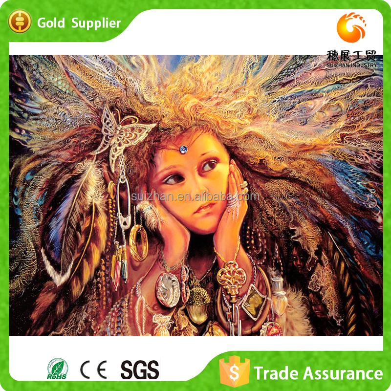 Wholesale Alibaba Diy Diamond Sexy Woman Portrait Canvas Oil Painting