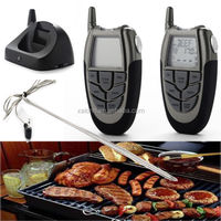 433mhz Wireless remote control BBQ Grill Digital Thermometer,8 meat