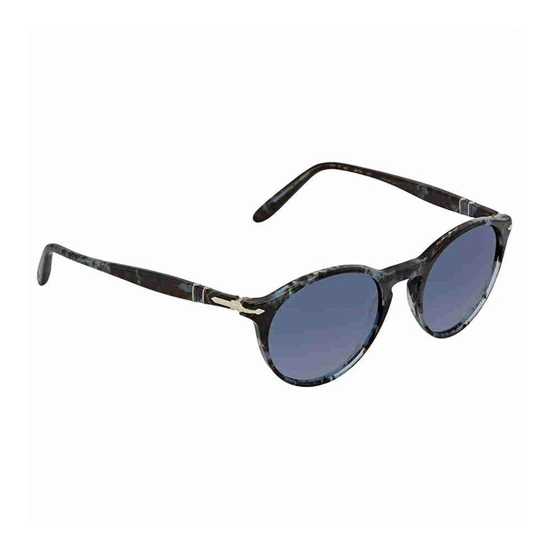 a22d205e7e Get Quotations · Persol Men s PO3092SM Sunglasses Spotted Blue Dark Grey Azure  Gradient Blue 50mm