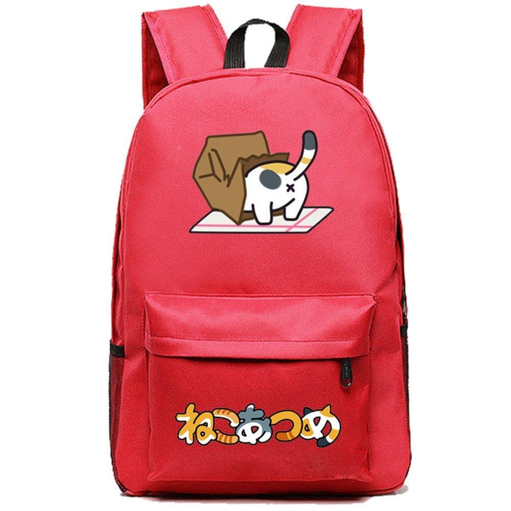 ... Siawasey Japanese Anime Neko Atsume Cosplay Backpack Shoulder Bag  School Bag reputable site fce34 3996b ... 0e90e75772a16