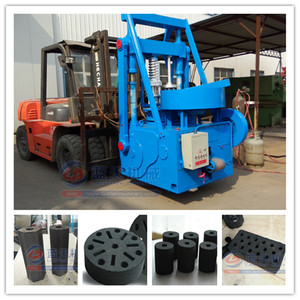 Long burning time coconut/bamboo charcoal briquette making machine