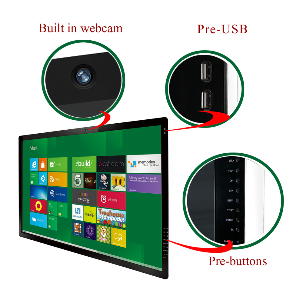 Full HD 1080P lcd interactive touch screen smart board tv certified with CE, ISO, FCC