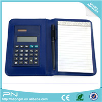 2019 New Spiral Paper Calculator Notebook with Pen and Rubber Band , Cheap Price Notebook with Calculator PN-503PA