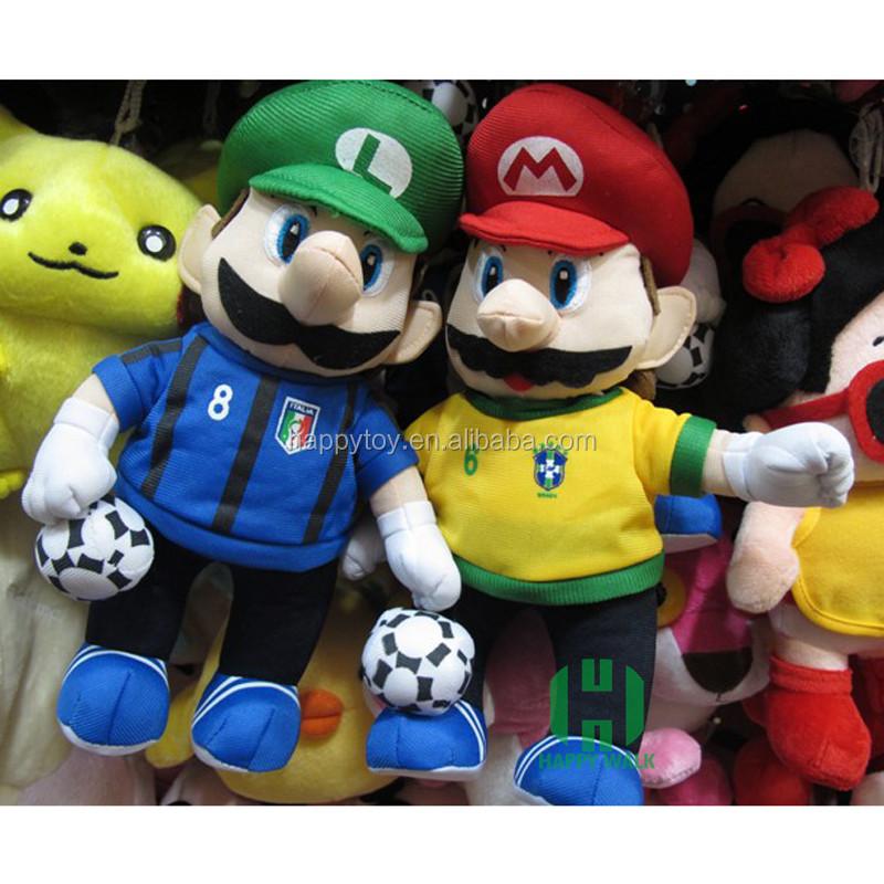 "5/"" Mario Mascot Strap Global Holdings Super Mario Plush Key Chain"