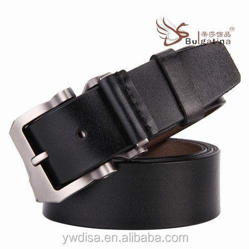Fashion genuine <strong>leather</strong> personalized with Zinc Alloy pin buckle belts for Men