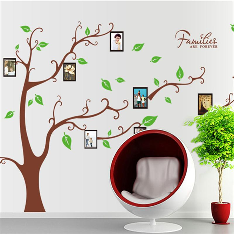 Amovible Cadre Photo Oiseau Wall Sticker Arbre, Accueil Wall Sticker Décoration