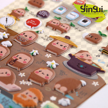 Populaire custom gestanst kids foam stickers, PVC vinyl cartoon 3d EVA foam puffy stickers
