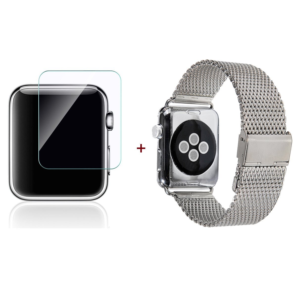 Apple Watch Band, GigaMax(TM) Milanese Loop Mesh Stainless Steel Strap Wrist Band Replacment With Metal Clasp Adapter for Apple Watch 42MM, Silver