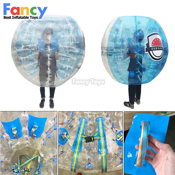 2018 New design inflatable bumper ball/bubble suit/inflatable human bubble ball