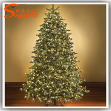 wholesale artificial metal fram christmas tree led PE&PVC christmas tree for decor