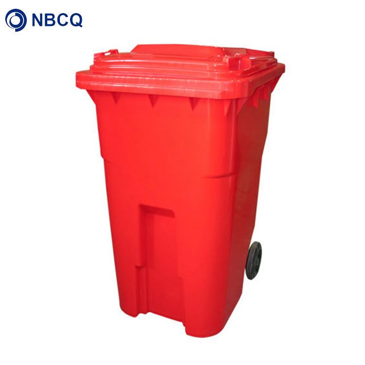 360 Liter plastic hdpe eco advertising waste bin with wheels and lid