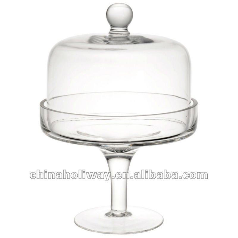 Bell Glass Cake Stands With Dome