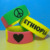1 inch segmented debossed color filled silicone bracelet