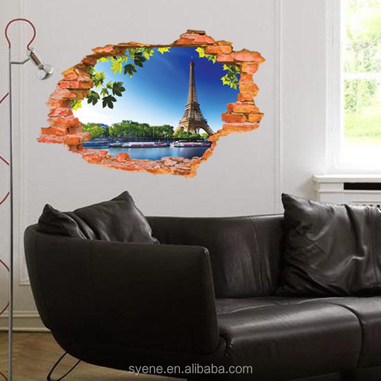 Syene 3d rhinestone wanddecoratie 3d venster eiffeltoren ...