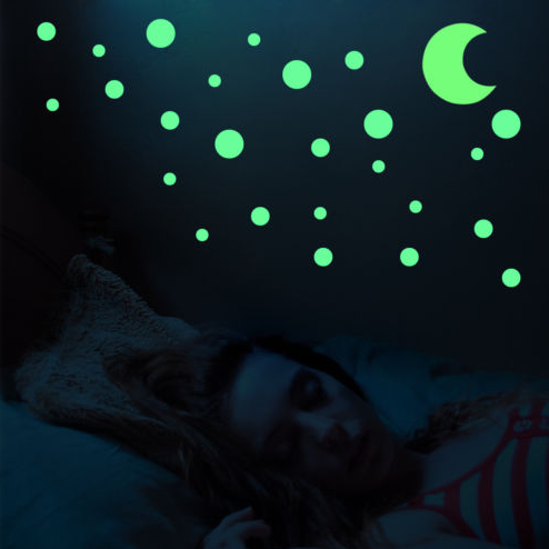 Moon Stickers Home Wall Ceiling Decals Set Glow In The Dark Stars Wall Stickers
