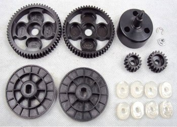 1/5 Scale Rc Car 58t/16t,55t/19t Spur/ Pinion Sets And New Upgrade Clutch  Bell - Buy Rc Car Alloy Parts,1/5 Rc Car Parts,Remote Control Car Metal