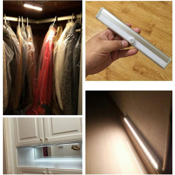 10LED 4AAA Battery Wireless Led Security Indoor Pir Motion Sensor Light Cabinet Closet Light Night Light with Sensor